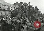 Image of 16th Armored Division greeted by Czech citizens Pilsen Czechoslovakia, 1945, second 8 stock footage video 65675062817
