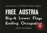 Image of Austrian independence ceremony 1955 Vienna Austria, 1955, second 2 stock footage video 65675062931