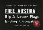 Image of Austrian independence ceremony 1955 Vienna Austria, 1955, second 4 stock footage video 65675062931