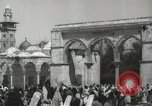 Image of Families at  Al Aqsa Mosque Jerusalem Palestine, 1945, second 6 stock footage video 65675062975
