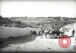 Image of Small boy walking with camels Amman Transjordan, 1945, second 3 stock footage video 65675062976
