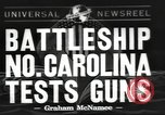 Image of USS North Carolina live firing exercise Atlantic Ocean, 1941, second 1 stock footage video 65675063047