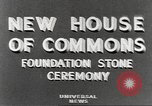 Image of House of Commons reconstruction London England United Kingdom, 1948, second 2 stock footage video 65675063099