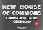 Image of House of Commons reconstruction London England United Kingdom, 1948, second 4 stock footage video 65675063099