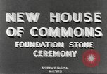 Image of House of Commons reconstruction London England United Kingdom, 1948, second 5 stock footage video 65675063099