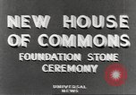 Image of House of Commons reconstruction London England United Kingdom, 1948, second 6 stock footage video 65675063099