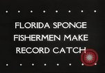 Image of sponge fishing Florida United States USA, 1946, second 2 stock footage video 65675063134