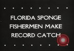 Image of sponge fishing Florida United States USA, 1946, second 4 stock footage video 65675063134