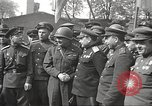 Image of officials meet Torgau Germany, 1945, second 9 stock footage video 65675063152
