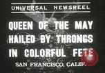 Image of Queen of the May San Francisco California USA, 1937, second 8 stock footage video 65675063189