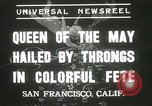 Image of Queen of the May San Francisco California USA, 1937, second 10 stock footage video 65675063189