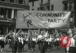 Image of May Day parade New York City USA, 1937, second 12 stock footage video 65675063190