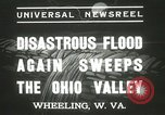 Image of flood damage Wheeling West Virginia USA, 1937, second 3 stock footage video 65675063193