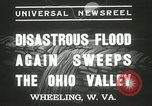 Image of flood damage Wheeling West Virginia USA, 1937, second 6 stock footage video 65675063193