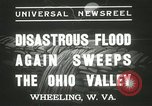 Image of flood damage Wheeling West Virginia USA, 1937, second 7 stock footage video 65675063193