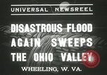 Image of flood damage Wheeling West Virginia USA, 1937, second 8 stock footage video 65675063193