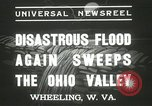 Image of flood damage Wheeling West Virginia USA, 1937, second 9 stock footage video 65675063193