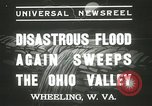 Image of flood damage Wheeling West Virginia USA, 1937, second 12 stock footage video 65675063193