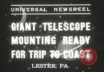 Image of mounting of telescope Lester Pennsylvania USA, 1937, second 3 stock footage video 65675063195
