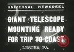 Image of mounting of telescope Lester Pennsylvania USA, 1937, second 5 stock footage video 65675063195