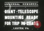 Image of mounting of telescope Lester Pennsylvania USA, 1937, second 8 stock footage video 65675063195
