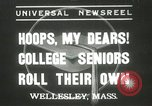 Image of hoop-rolling championship Wellesley Massachusetts USA, 1937, second 1 stock footage video 65675063196