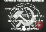 Image of communists New York United States USA, 1933, second 6 stock footage video 65675063198