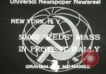 Image of communists New York United States USA, 1933, second 7 stock footage video 65675063198