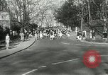 Image of hoop-rolling contest Wellesley Massachusetts USA, 1933, second 10 stock footage video 65675063201