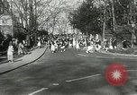 Image of hoop-rolling contest Wellesley Massachusetts USA, 1933, second 11 stock footage video 65675063201