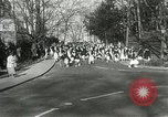 Image of hoop-rolling contest Wellesley Massachusetts USA, 1933, second 12 stock footage video 65675063201