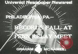 Image of Penn Relay meet Philadelphia Pennsylvania USA, 1933, second 2 stock footage video 65675063206