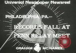 Image of Penn Relay meet Philadelphia Pennsylvania USA, 1933, second 4 stock footage video 65675063206