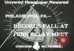 Image of Penn Relay meet Philadelphia Pennsylvania USA, 1933, second 5 stock footage video 65675063206