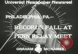 Image of Penn Relay meet Philadelphia Pennsylvania USA, 1933, second 6 stock footage video 65675063206
