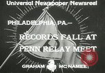 Image of Penn Relay meet Philadelphia Pennsylvania USA, 1933, second 7 stock footage video 65675063206