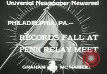 Image of Penn Relay meet Philadelphia Pennsylvania USA, 1933, second 8 stock footage video 65675063206