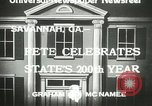 Image of 200th anniversary Savannah Georgia USA, 1933, second 8 stock footage video 65675063207