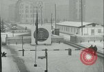 Image of Friedrichstrasse checkpoint of Berlin Wall Berlin Germany, 1961, second 10 stock footage video 65675063223