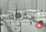 Image of Friedrichstrasse checkpoint of Berlin Wall Berlin Germany, 1961, second 11 stock footage video 65675063223