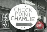 Image of Friedrichstrasse checkpoint Berlin Germany, 1961, second 1 stock footage video 65675063224