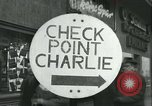 Image of Friedrichstrasse checkpoint Berlin Germany, 1961, second 2 stock footage video 65675063224