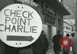 Image of Friedrichstrasse checkpoint Berlin Germany, 1961, second 7 stock footage video 65675063224