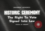 Image of Voting Rights Act of 1965 Washington DC USA, 1965, second 2 stock footage video 65675063257