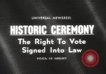 Image of Voting Rights Act of 1965 Washington DC USA, 1965, second 4 stock footage video 65675063257