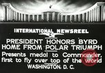Image of Commander Richard Byrd Washington DC USA, 1927, second 8 stock footage video 65675063338