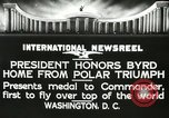 Image of Commander Richard Byrd Washington DC USA, 1927, second 11 stock footage video 65675063338