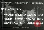 Image of American unemployed workmen New York City USA, 1932, second 1 stock footage video 65675063353