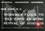 Image of American unemployed workmen New York City USA, 1932, second 2 stock footage video 65675063353