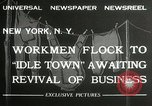 Image of American unemployed workmen New York City USA, 1932, second 4 stock footage video 65675063353
